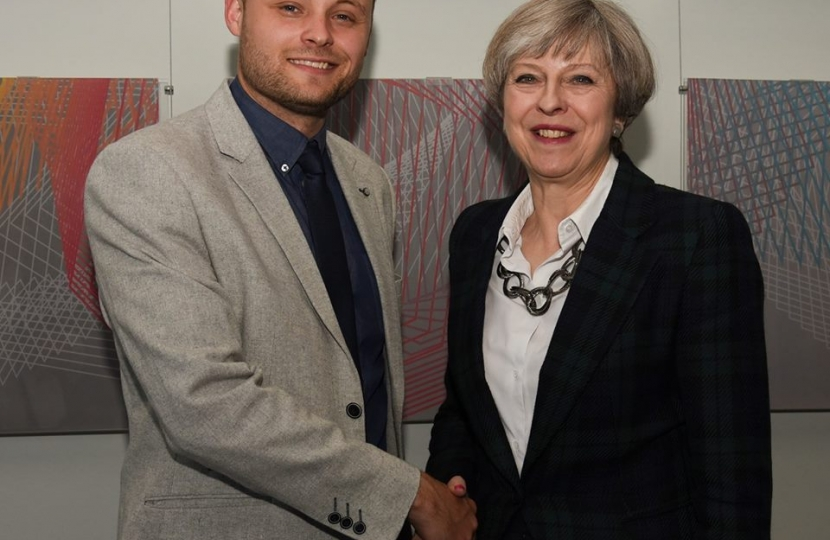 Ben Bradley and Theresa May